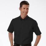 Camisa social masculina manga curta preta