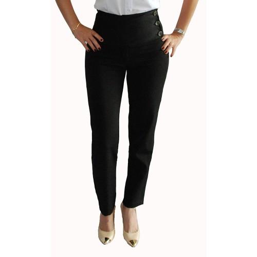 calca preta social feminina cintura alto