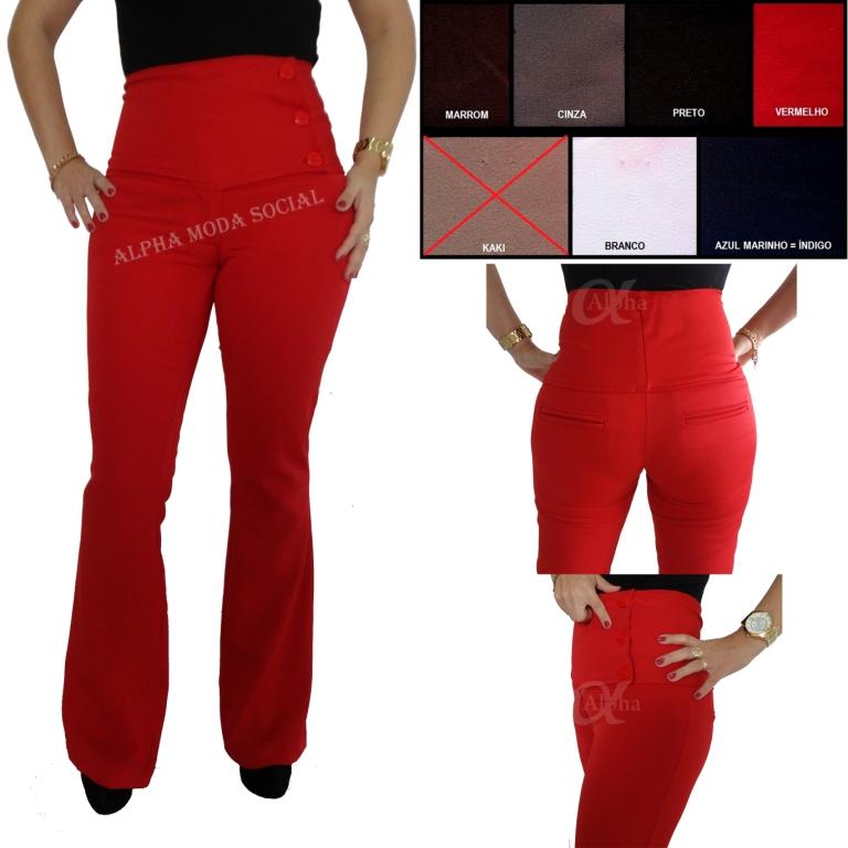 calça-flare-vermelha-social-feminina-detalhes