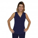 colete azul marinho com elastano gif