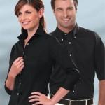 13V0527_Van_Heusen_Womens_Dress_Shirts_Van_Heusen_Ladies_Twill_34_Sleeve_Dress_Shirts