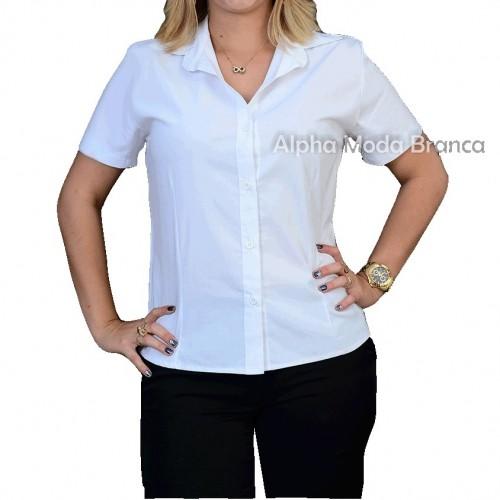 camisa feminina branca manga curta 1 gif