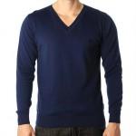 blusa de lã-sueter-masculina-gola-v-azul-lacoste