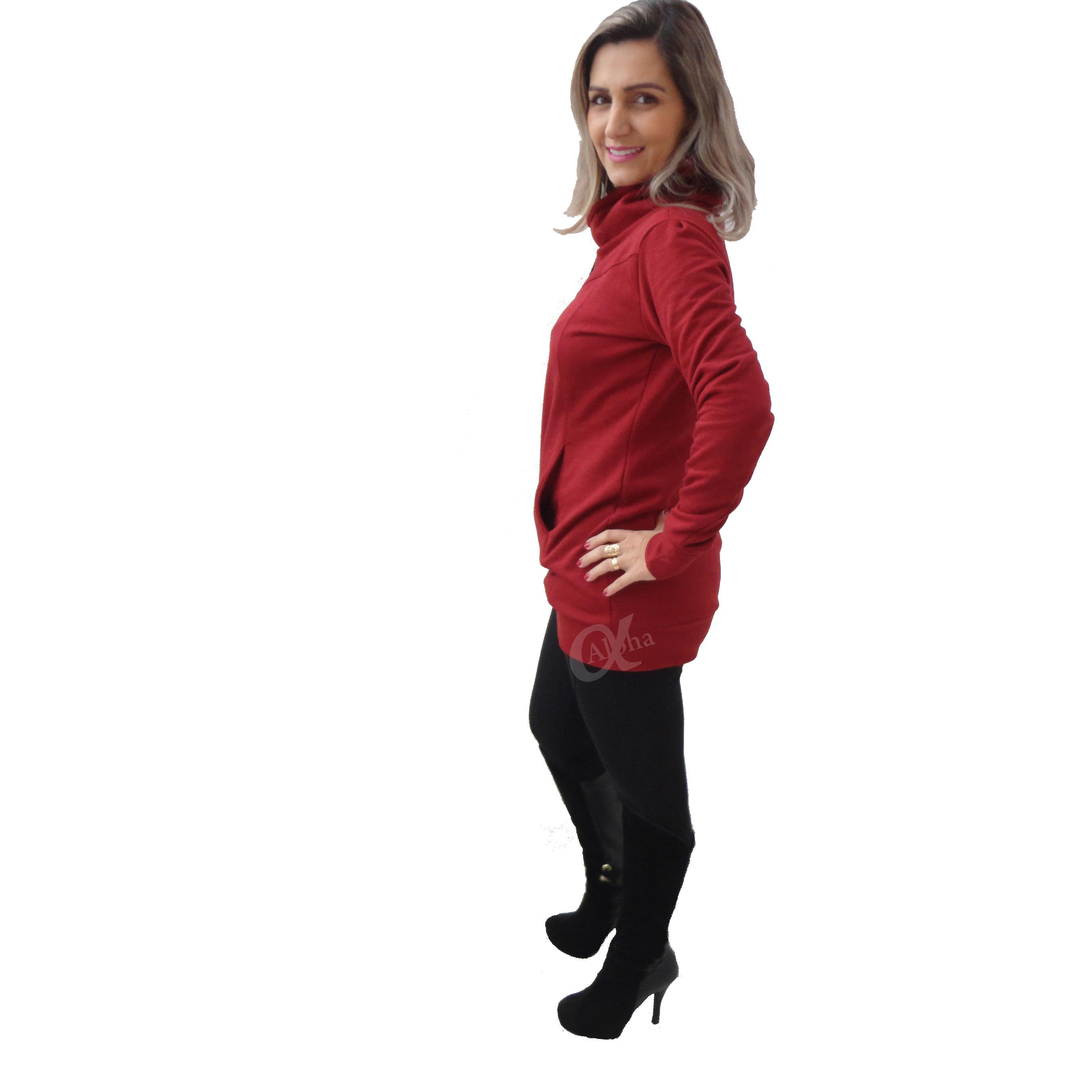 Blusa de moletom feminina over size alpha moda social 4