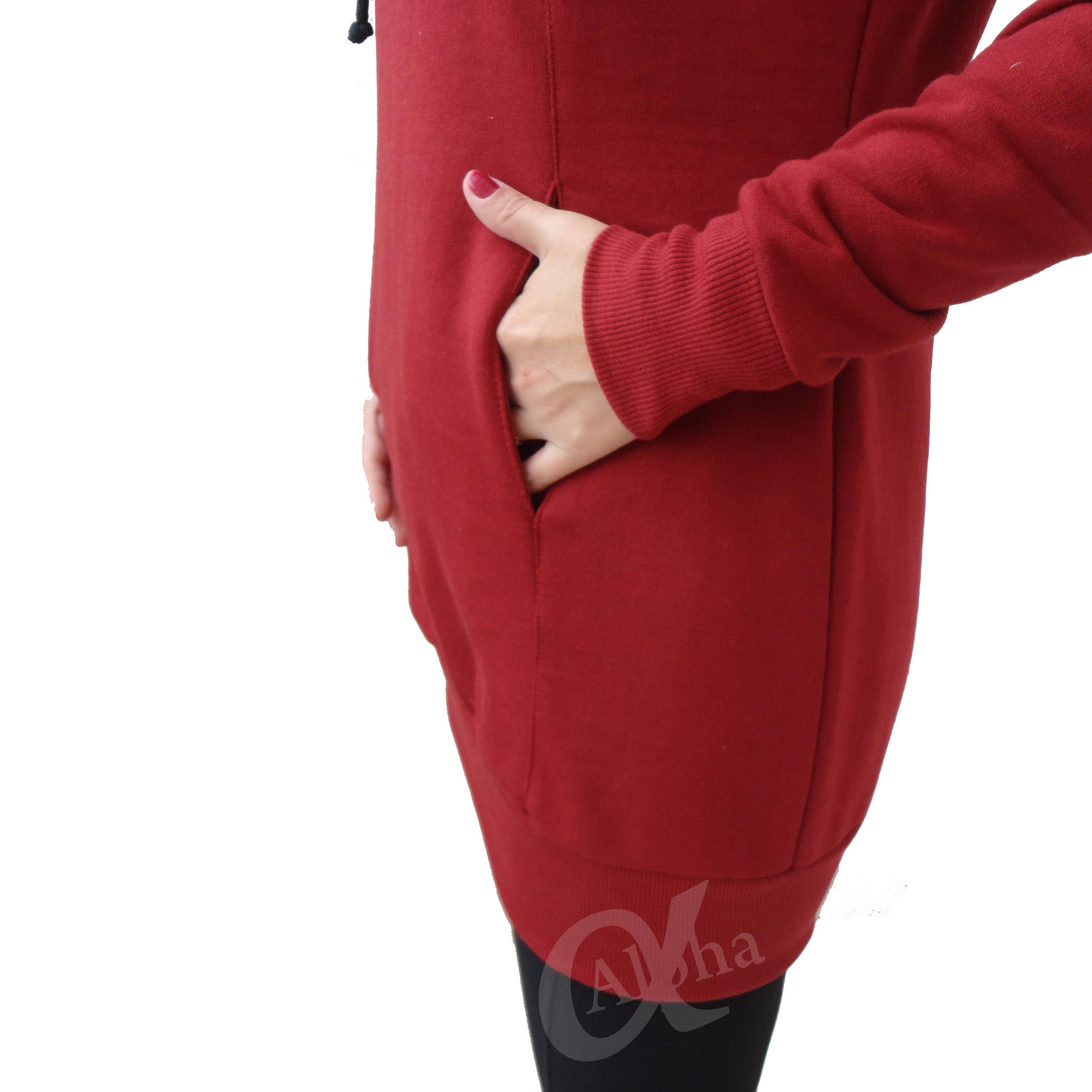 Blusa de moletom feminina over size alpha moda social 7